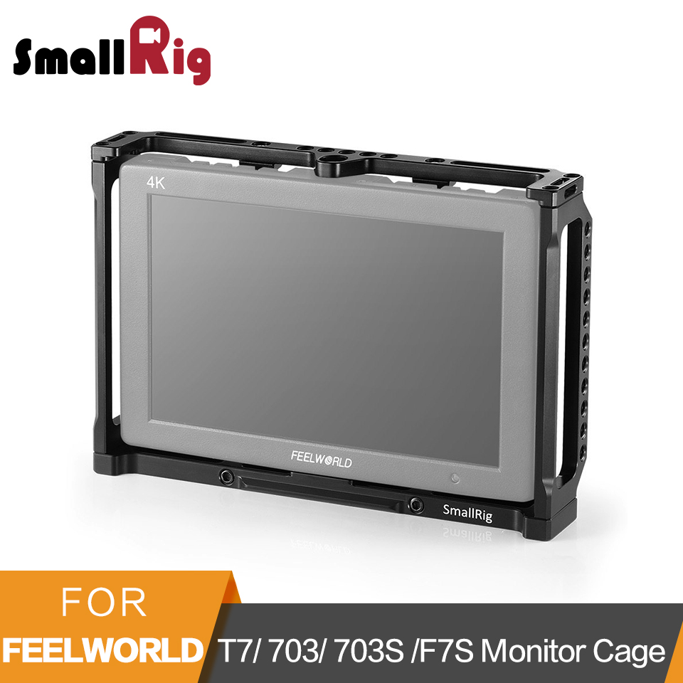 SmallRig 7 Inch Monitor Cage For Feelworld T7 703 703S And F7S Monitor Protective Cage With Nato Rail Threading Holes - 2233