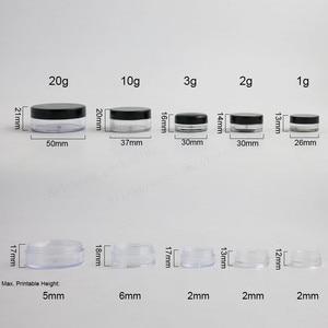 Image 2 - 100X1g 2g 3g 5g 10g 20g Vuoto Riutilizzabile Bottiglie Vasetti di Cosmetici trucco Contenitore di Piccole Bottiglia Rotonda Piccolo Vaso Crema