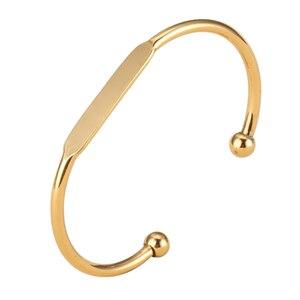 Image 4 - MYLONGINGCHARM 50 ชิ้น/ล็อตเปล่ากำไลข้อมือ Engravable ทองแดงสร้อยข้อมือ Rosegold GOLD สร้อยข้อมือ T0692