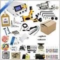Оптовая Профессиональные Татуировки Kit 2 Gun Полная Машина Оборудование + Преподавания CD + Чернила наборы + Иглы для Начинающих Красоты инструменты