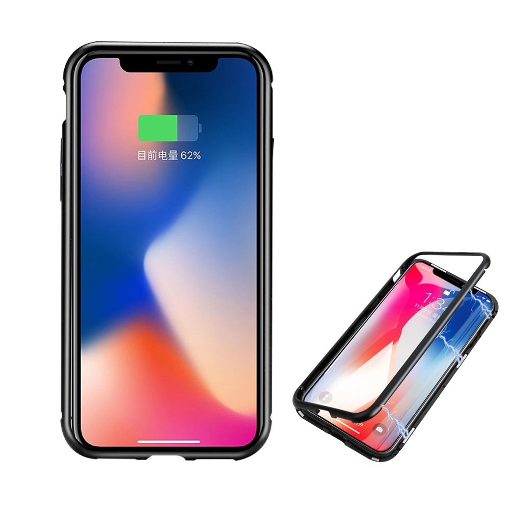 info for bd632 ab000 US $6.18 45% OFF Hangrui Strong Magnetic Case For iPhone X 10 Case 360  Cover Back Clear Tempered Glass Coque Case For iPhone 6 7 8 Plus X -in  Fitted ...
