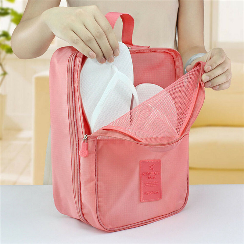 Image 3 - Portable Travel Shoes Storage Tote Ventilate Pouch Zip Bag Organizer 29 13 22c Household  Underwear Sorting Bag-in Storage Bags from Home & Garden