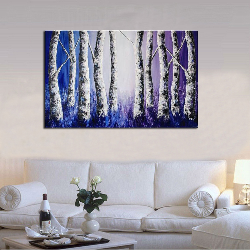 Huge Modern Abstract Oil painting On Canvas Abstract Handmade Landscape Art 24X32 39 39 Home Decoration in Painting amp Calligraphy from Home amp Garden