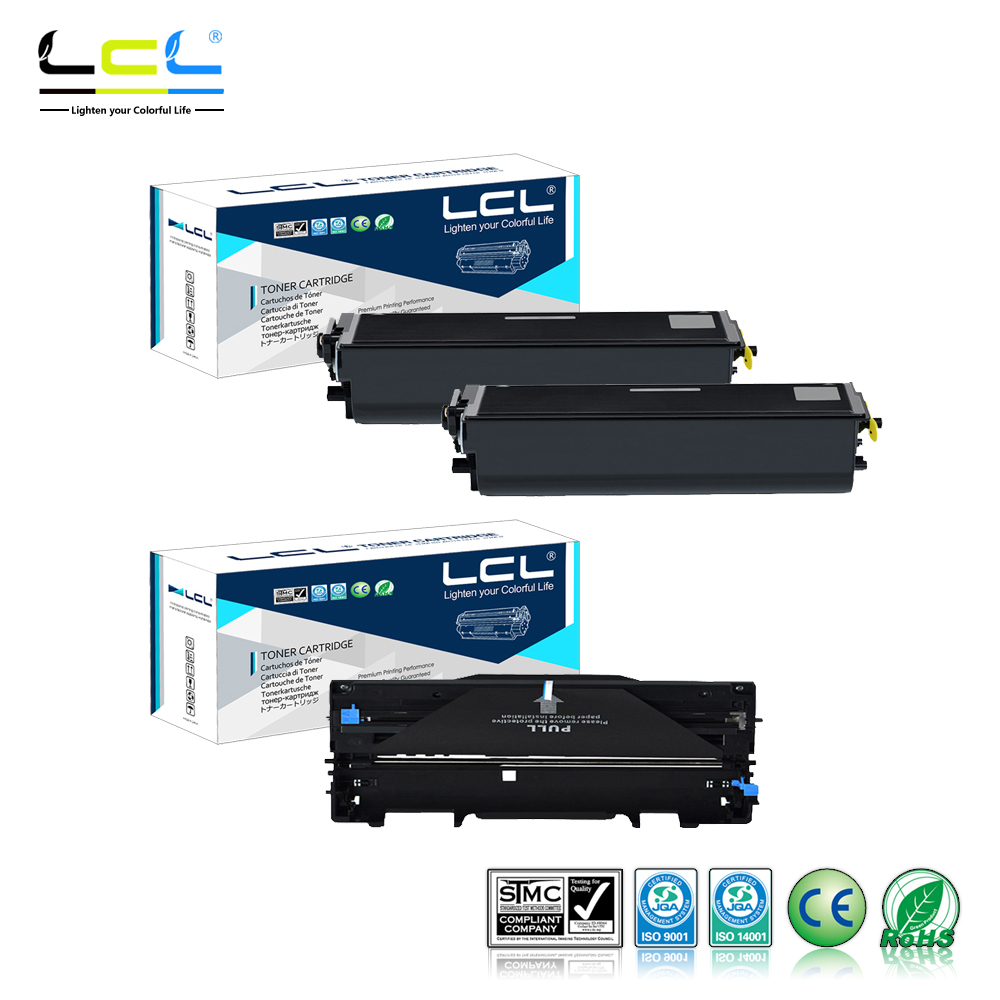 LCL TN460 TN430 TN6600 TN6300 DR400 DR6000 (3-Pack Black) Toner Cartridge Compatible for Brother DCP 1200/1400/1240/1250/ huter r 220