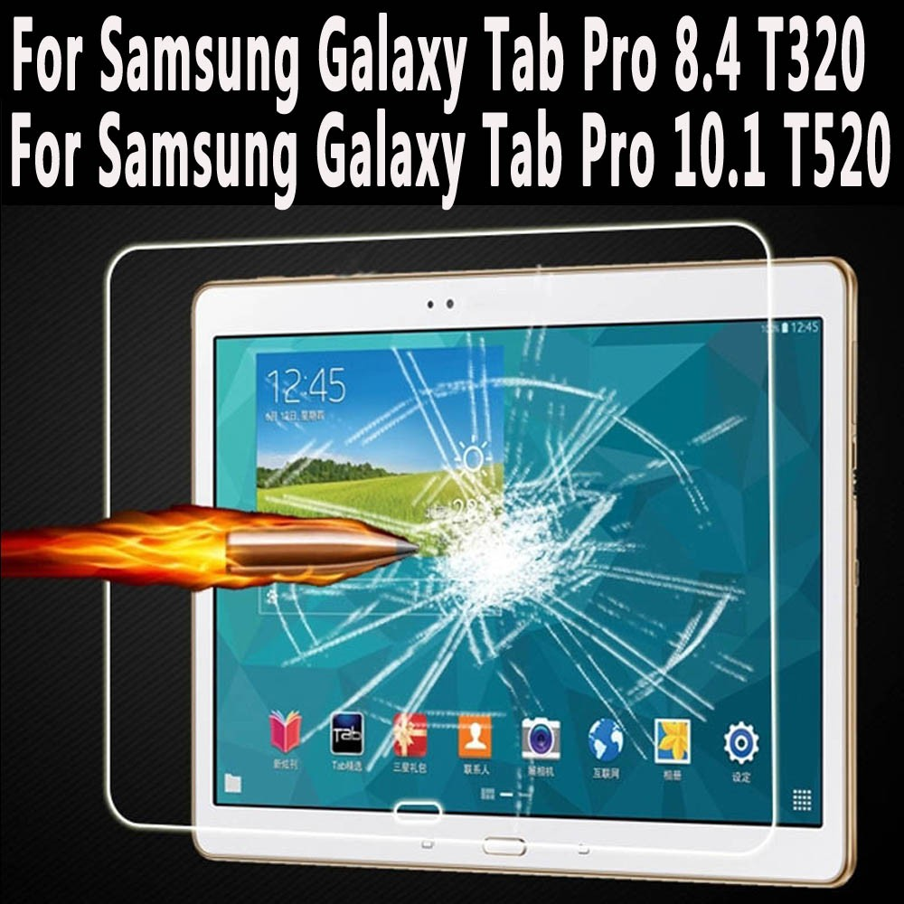 Tempered Glass For Samsung Galaxy Tab Pro 8.4 T320 Screen Protector for Samsung Galaxy Tab Pro 10.1 T520 T525 Tempered Glass protective pu leather full body case for samsung galaxy tab pro 8 4 t320 brown black