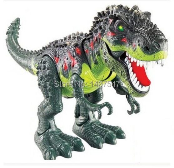 Model font b toy b font tyrannosaurs rex electric animal battery operated flash eye Assemble for