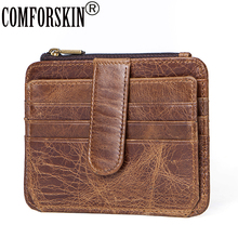 COMFORSKIN Brand Premium 100% Cowhide Leather Multi-function Coin Purse New Arrivals Men Card Wallets Hot Sales Card Holder 2018 comforskin brand premium 100