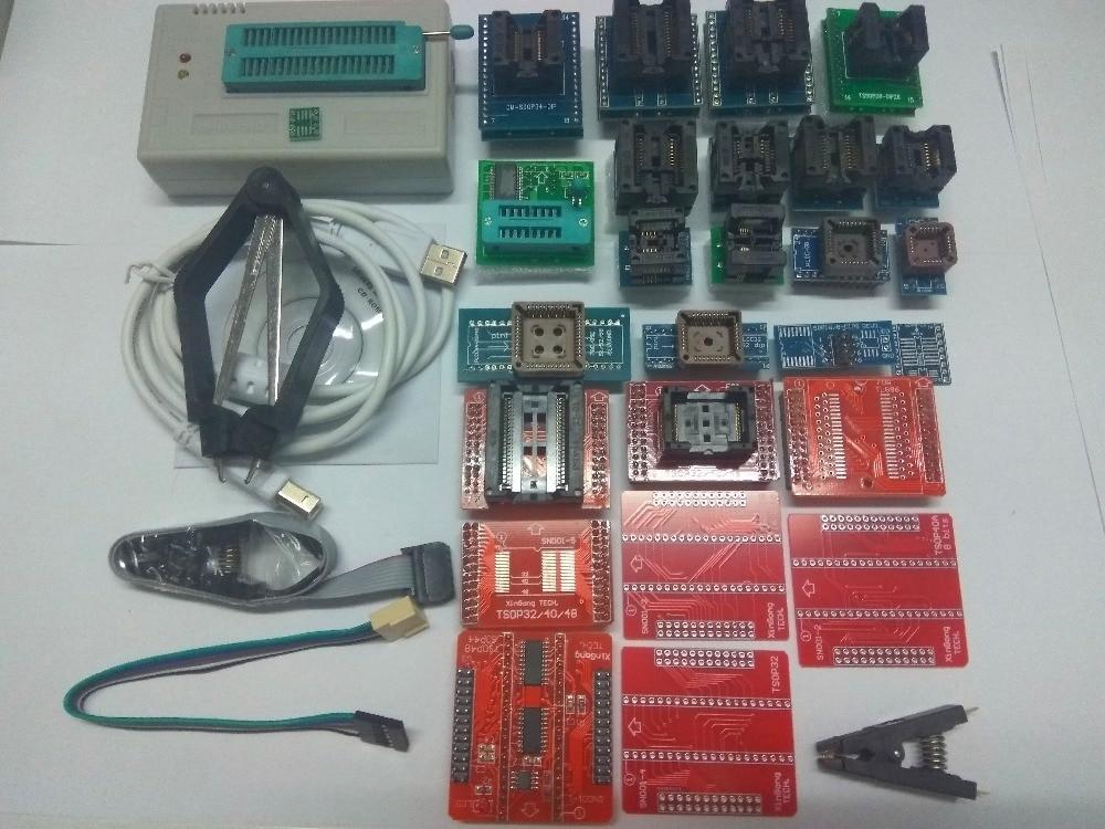 Russian Files V7.32 TL866II Plus TL866A USB Universal Programmer Bios/ECU Programmer+28adapters 1.8V nand flash 24 93 25 mcu
