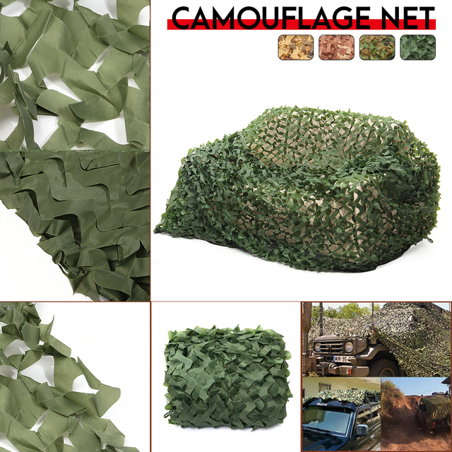 3x3m/3x5m/3x6m/4x6m Hunting Camping Army Green Camouflage Nets Camo Net Car Covering Sun Shelter Woodland Jungle Leave Net