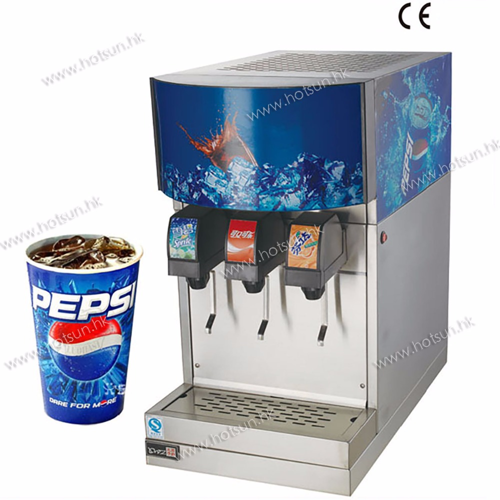 Commercial Electric 3-Flavor  Ice and Beverage Soda Fountain System Dispenser Machine commercial beer machine ice core beverage dispenser double headed ice beer drink machine dispenser beer machine 1pc