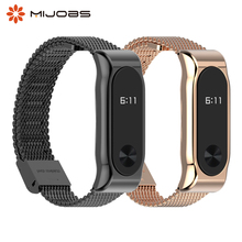 Mi Band 2 Metal Wrist Strap Stainless Steel Bracelet for Xiaomi Mi Band 2 Smart Accessories Watch Miband 5 4 3 2 Band Wristband