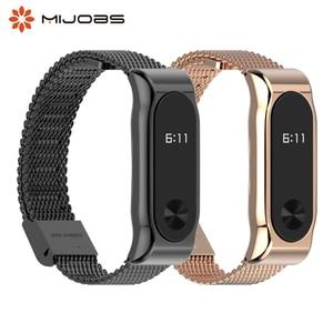 Image 1 - Mi Band 2 металлический ремешок на запястье браслет из нержавеющей стали для Xiaomi Mi Band 2 умные Аксессуары Часы Miband 5 4 3 2 браслет