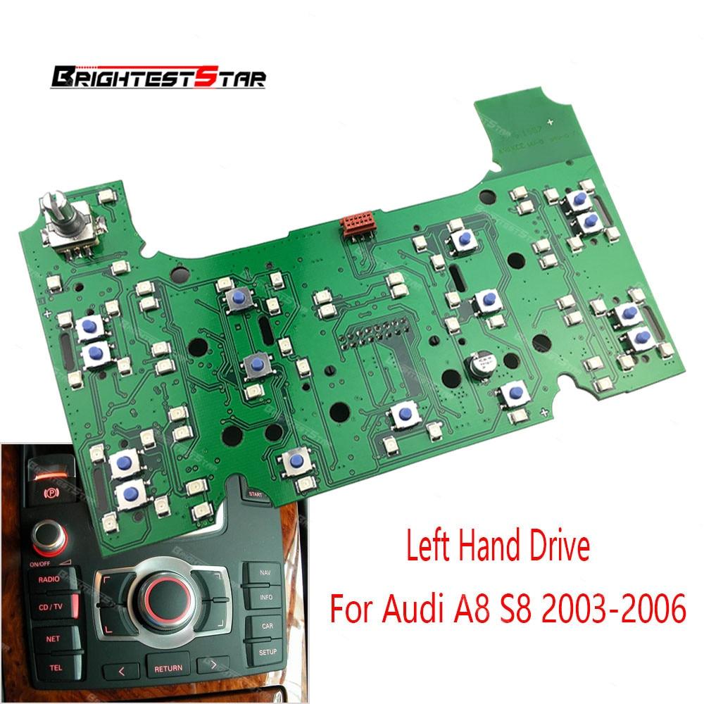 4E1919612 2g MMI Multimedia Interface Circuito del Pannello di Controllo di Bordo Per Audi A8 S8 2003 2004 2005 2006 PVC e metallo
