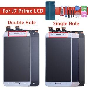 Image 1 - LCD Digitizer เต็มรูปแบบสำหรับ Samsung Galaxy J7 Prime G610 G610F On7 2016 G6100 จอแสดงผลจอสัมผัสคู่