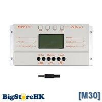 Kontroler MPPT 30A Słoneczna Ładowarka 5 V Ładowarka USB 12 V 24 V Panel słoneczny Ładowarka Baterii LCD Kontroler MPPT do Pracy Automatycznej 30 30 Amperów