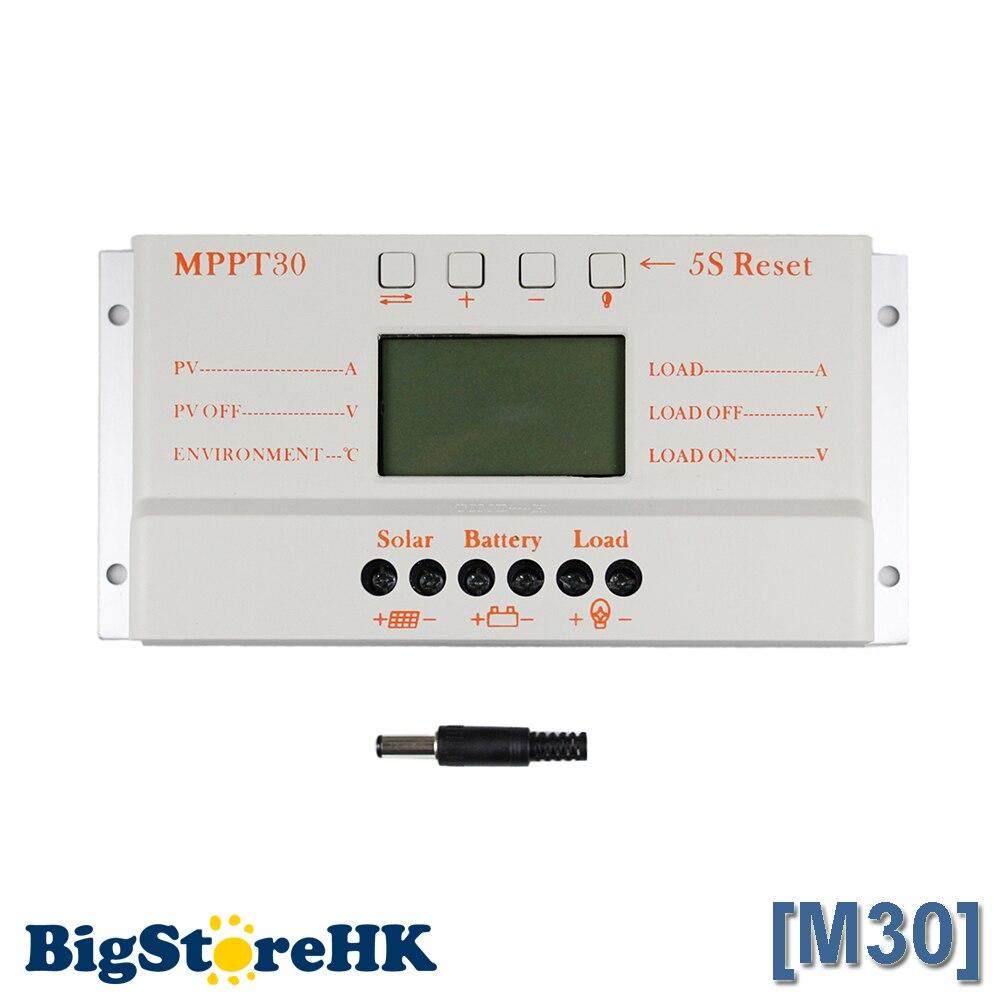 MPPT 30A Солнечный контроллер зарядное устройство В 5 в USB зарядное устройство В 12 В 24 В солнечная панель Батарея ЖК-зарядное устройство контрол...