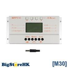 MPPT 30A Solarregler Ladegerät 5 V Usb-ladegerät 12 V 24 V Solarpanel Batterie LCD Ladegerät Controller Auto Arbeit MPPT 30 30 Ampere