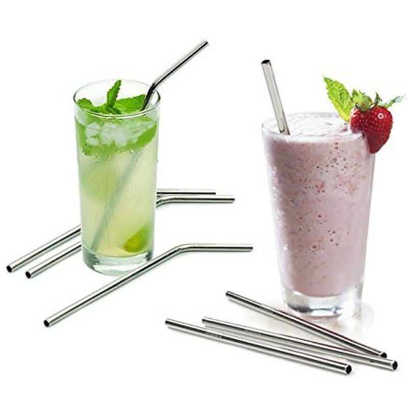 Stainless Steel Straws Reusable Metal Drinking Straws Fits 30 20 Oz <font><b>Yeti</b></font> <font><b>Tumbler</b></font> <font><b>Rambler</b></font> <font><b>Cups</b></font> <font><b>2016</b></font>