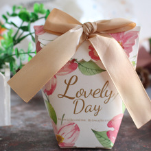 10pcs/lot lovely European style gift box Small paper bag candy  wedding guest Cookie box/ thank you birthday