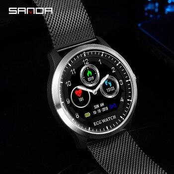 264f8293f180 Nuevo reloj inteligente de las mujeres de los hombres de Monitor de presión  arterial Fitness Tracker reloj inteligente reloj deportivo para ios android  ...