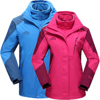 Spring autumn and winter applicable detachable cold three in one two piece jacket men and women couple models outdoor clothing