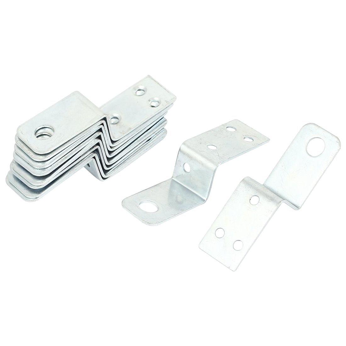 70mmx18mm Z Shape Shelf Corner Brace Plate Right Angle Bracket 10pcs bqlzr 10 x l shaped metal shelf support 25 x 25mm corner brace right angle bracket page 8