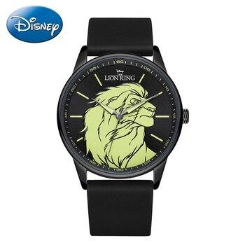 Reloj de pulsera de cuarzo japonés para hombre Lion King Brave, correa de silicona negra y azul para hombre, relojes resistentes al agua, relojes de moda para hombre