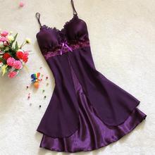 Women s Sexy Lace Short Nightgowns Chiffon Spaghetti Straps Sleepwear Pyjamas For Women