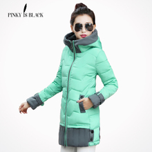 Winter women jacket 2016 new fashion women's winter coat outerwear plus size thickening medium-long down cotton-padded jacket