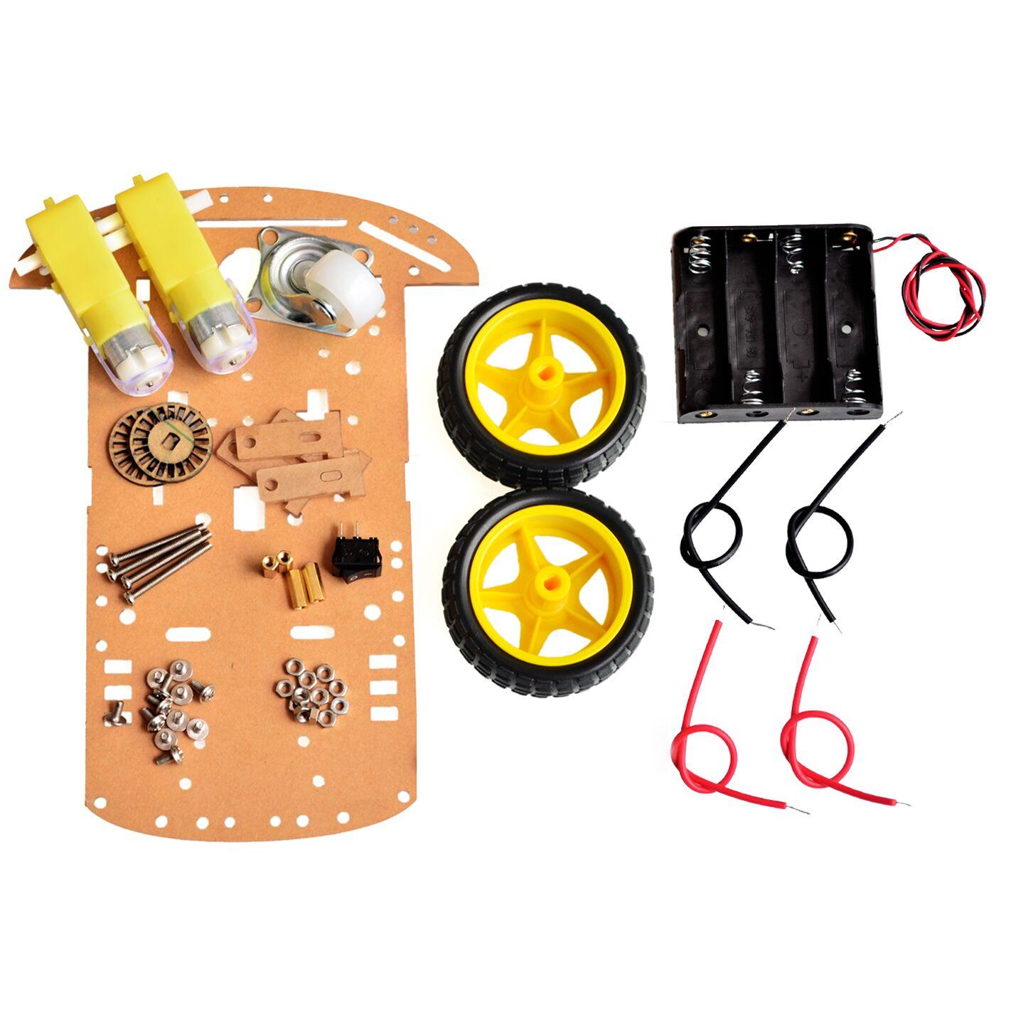 2RM À Moteur Intelligent Robot Châssis Kit de Voiture Speed Encoder Battery Box Pour