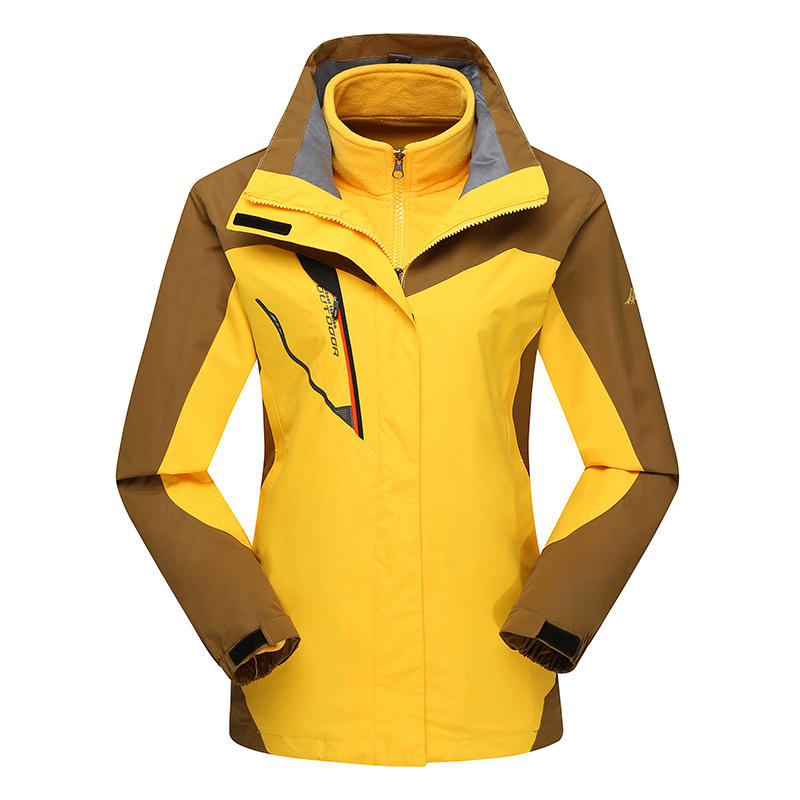 Hot Ladies Ski Hiking Camping 3in1 Fleece Lining Hooded Chaquetas Mujer Waterproof Outdoor Winter Jacket Women Windbreaker Coat цены онлайн