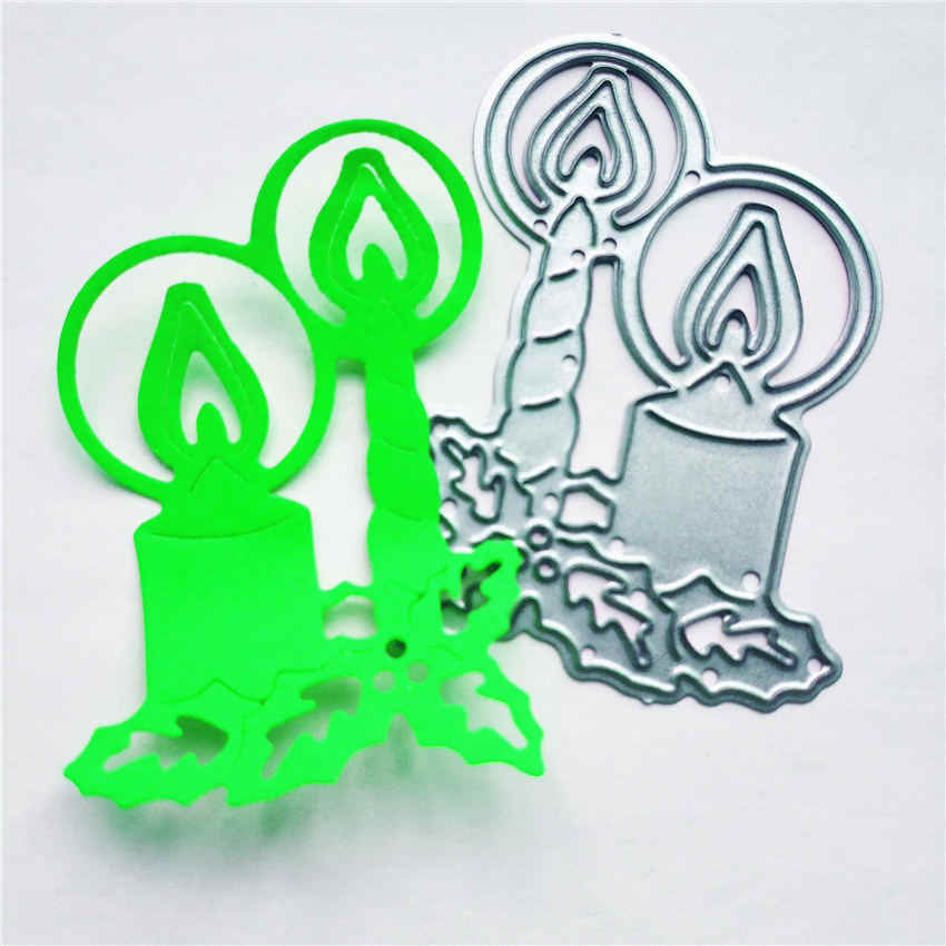 Metal Cutting Die Craft Leaf Candlestick Carbon Steel Embossing Stencil DIY Scrapbooking Intelligent Knife Mold For Girls Gift