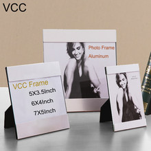 "Desktop Photo Frame Pendulum,5""6""7""Small Photo Frames, Picture Frame ,Decoration Maison,Poster Frame Aluminum Alloy(China)"