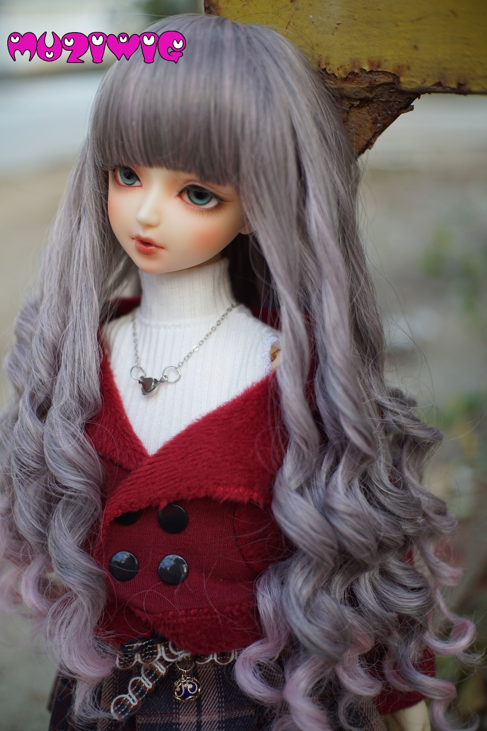 High-temperature Fiber Synthetic Long Deep Spiral Wavy Curly Hair Wig 2 Colors For 1/3 1/4 1/6 BJD On Sale In MUZIWIG