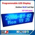 Магазин реклама из светодиодов подписать программируемый сообщение вход перемещение прокрутка из светодиодов табло один синий цвет 40 * 104 см