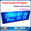 Store Advertising Led Sign Programmable Message Sign Moving Scrolling LED Display Board Single Blue Color 40*104cm