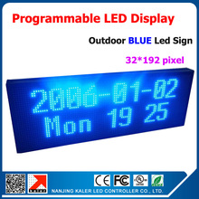 Store Advertising Led Sign led board display Programmable Message Sign Moving Scrolling LED Display Board Blue Color 40*104cm