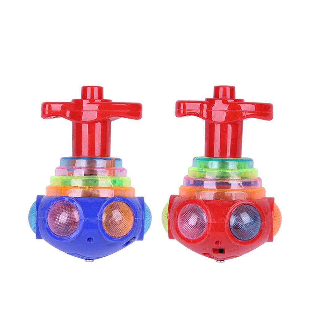 Детский Пластиковый Забавный светодиодный светильник, музыкальная игрушка, игрушка-Спиннер, подарок для снятия стресса, игрушка-гироскоп - Цвет: a