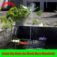 Max. 180L/H Pool Pond Outdoor Floating Solar Panel Home Garden Decoration Solar Fountain Pumps