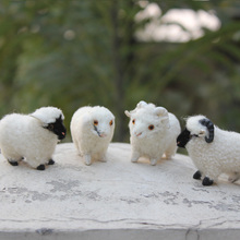festival decoration realistic lifelike plush minuture sheep goat
