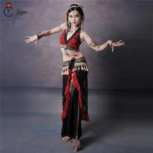 Tribal Belly Dance Costume Set 2 pieces Outfit Bra Cup A/B/C/D Lace Hip Scarf Women Dancewear Plus size Tribal Costume цена в Москве и Питере