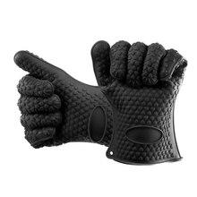 Прихватки для духовки, перчатки для выпечки, термостойкие силиконовые перчатки, толстые силиконовые кухонные перчатки для барбекю, рукавица для Гриль-барбекю