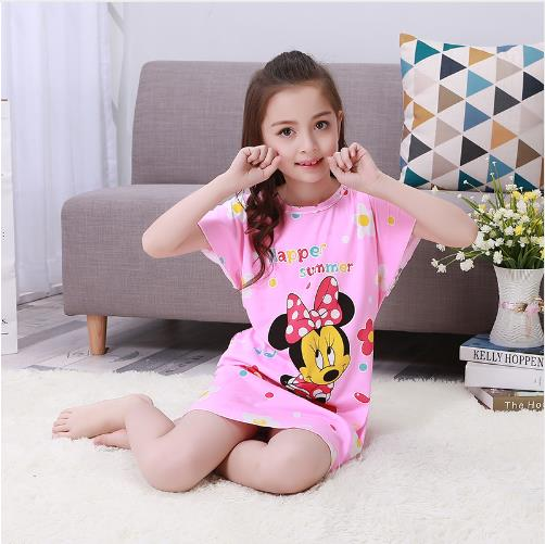 New Listing Girl Baby Pajamas Cotton Princess Nightgown Kids Home Cltohing Girl Sleepwer Children Clothing Summer Dresses KH28