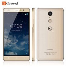 Original m17 4g telemóvel impressão digital id mtk6737 gooweel quad núcleo 64bits IPS de 5.5 polegadas Android 6.0 do smartphone 16 GB 8MP GPS celular