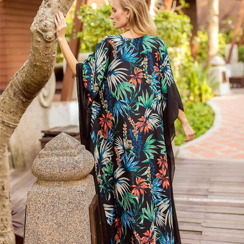 Karlofea/Новинка 2018 года; праздничное пляжное платье для вечеринок; длинное женское платье свободного размера; модное летнее шифоновое платье с цветочным принтом