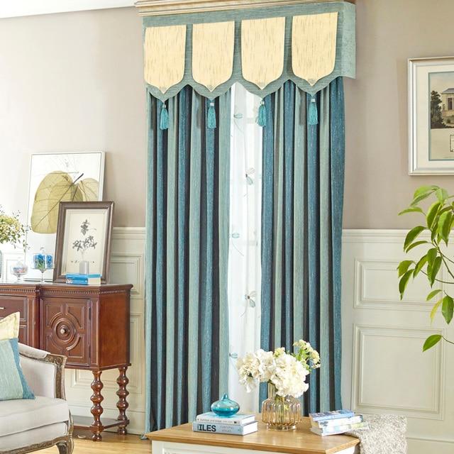 Chenille Fenster Vorhang Schlafzimmer Weichen Gestreiften Stoff
