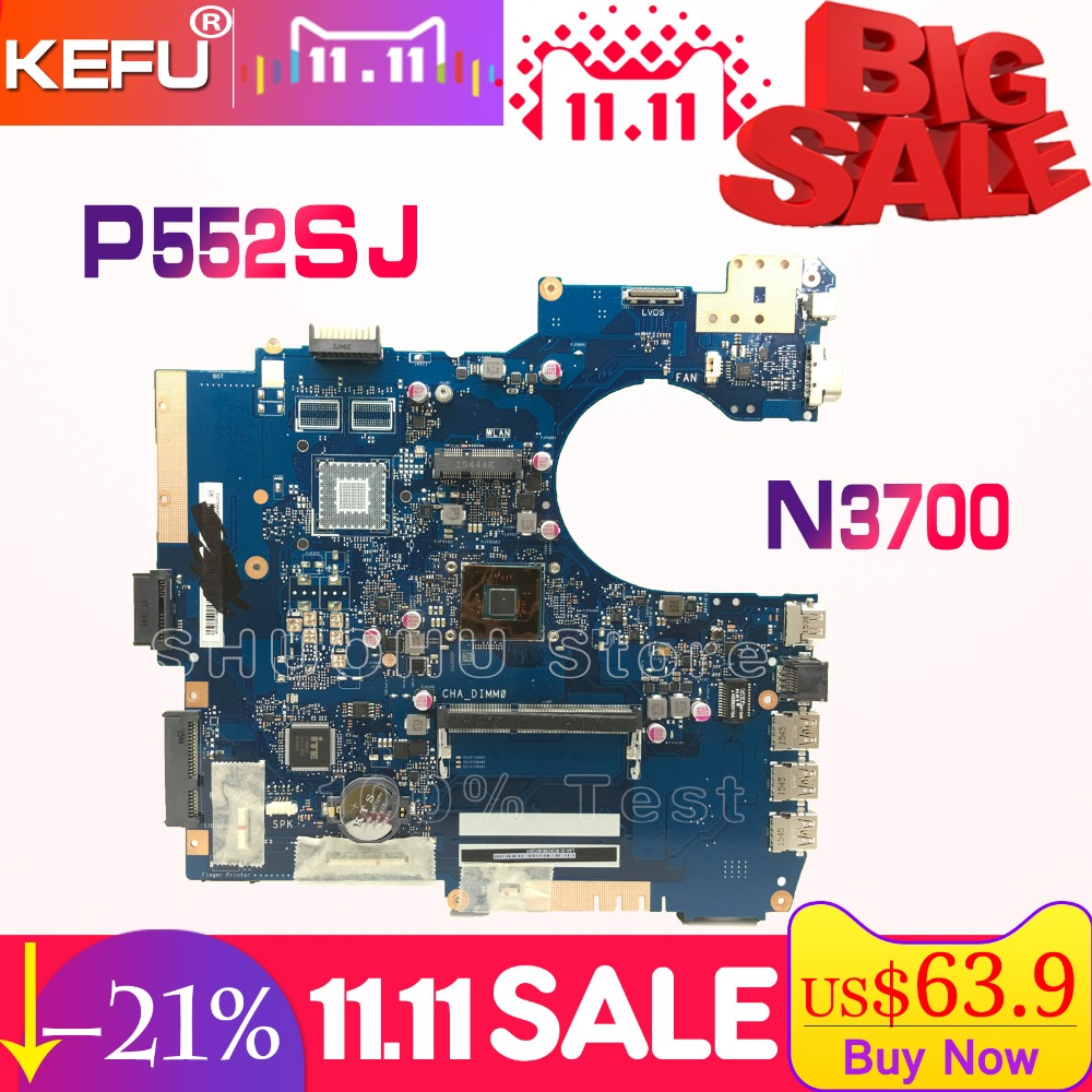 KEFU For ASUS P552SJ PU552SJ PRO552S P552S PU552S P552SA laptop motherboard tested 100% work original mainboard