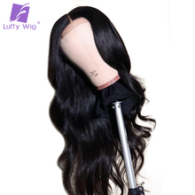 Luffy Long Wavy Brazilian Full Lace Wigs Human Hair Glueless Pre Plucked With Baby Hair Bleached