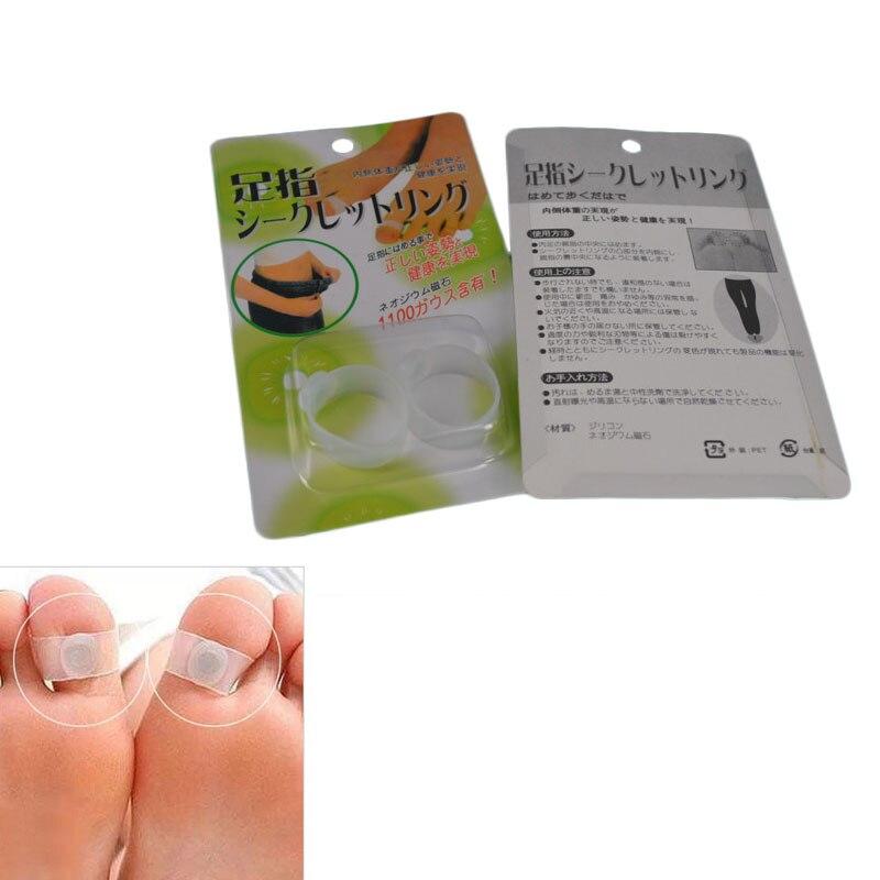 1Sets Magnetic Toe Rings Soft Silicone Keep Slim Fitness font b Loss b font font b