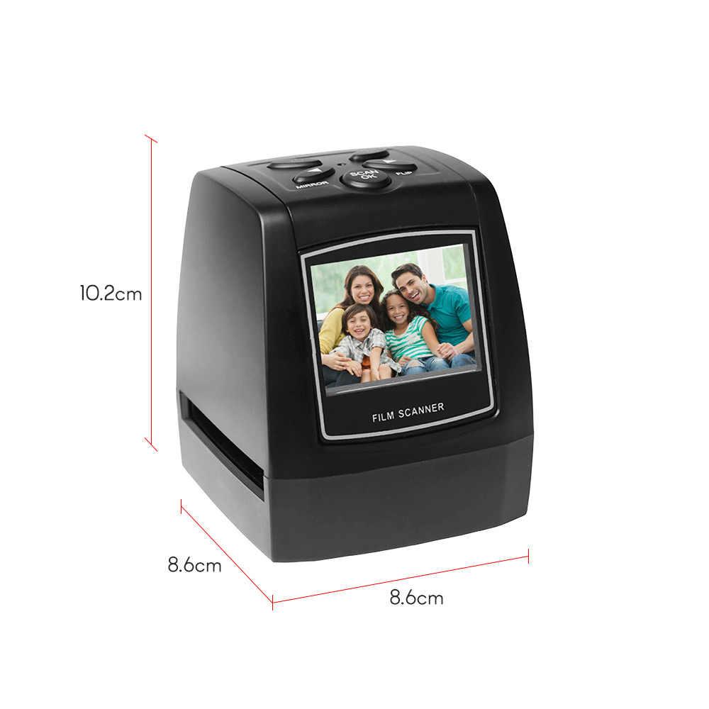 Переносной сканер отрицательной пленки 35 мм 135 мм слайд-адаптер для просмотра фото цифровой изображения поддержка sd-карты фото сканирования
